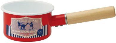 スケーター ホーロー ミルクパン ミッキーマウス レッド ディズニー EMP8