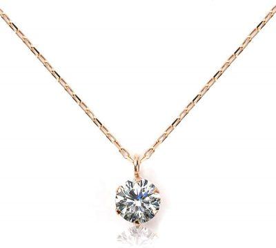 L&Co (エルアンドコー) 【ペーパーボックス&ペーパーバッグ付】K10 ダイヤモンド 0.1ct ネックレス