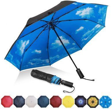 青空 折りたたみ傘