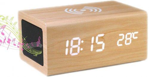 木製 時計 スピーカー